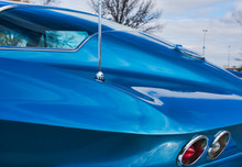 Exotic Vintage Sports Car - Racing Car - Corvette Stingray - Rear End Panel
