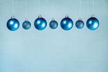 Blue Christmas Ball Border