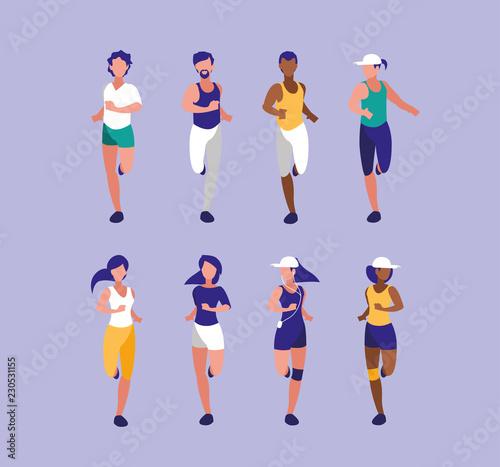 Fotografía people athlete running avatar character
