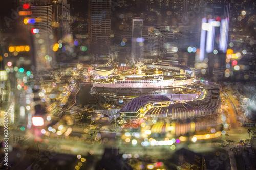 Fototapeta Night View of Shenzhen Maritime World City obraz na płótnie