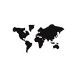 World map vector icon