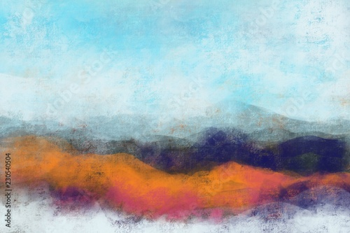 Fotografía  Abstract painterly landscape, imaginative blurred soft focus natural organic for