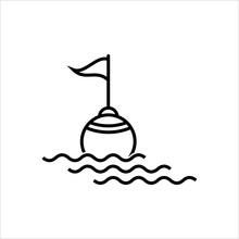 Buoy Icon, Float Buoy Icon