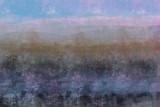 Abstrakcyjny krajobraz malarski, pomysłowe niewyraźne nieostrość naturalnych form organicznych w ręcznie malowanej kompozycji - 230550174