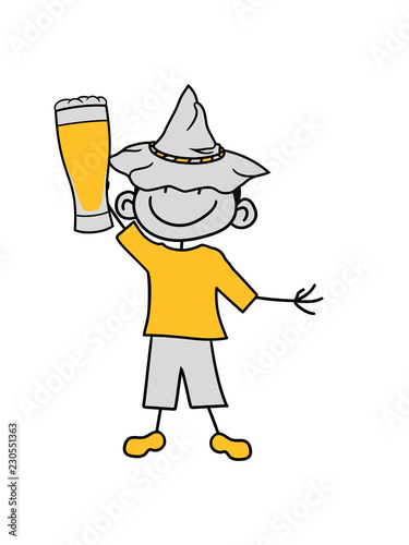Bier Saufen Trinken Durst Alkohol Bayern Oktoberfest Glas Begrüßen