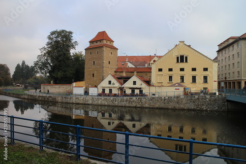 Photo  Železná panna – bulwark tower on shore of Malše river in České Budějovice, South