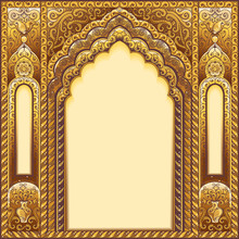 Indian Ornamented Arch. Color ...