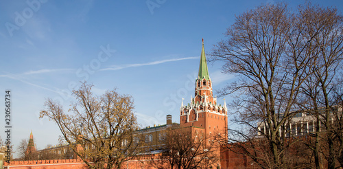 Poster Moskou Moscow Kremlin on a sunny winter day, Russia