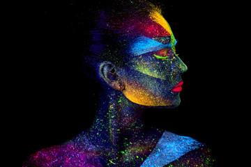 Zamknij się portret streszczenie UV