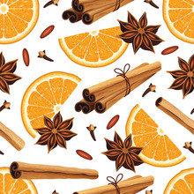 Seamless Pattern With Anise St...