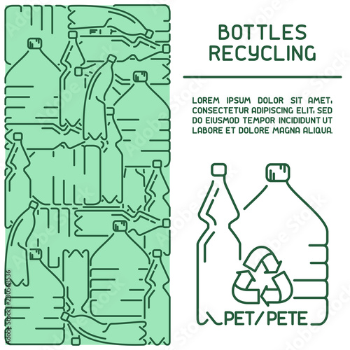 Photo  Plastic bottles recycling information card