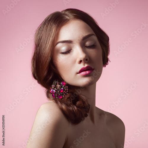 Foto Portrait of young beautiful girl
