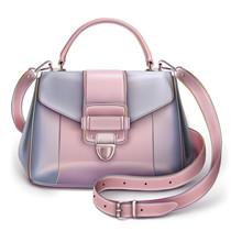 Stylish Women's Grey-pink Handbag