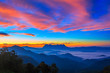 Landscape of sunrise on Mountain at Doi Luang Chiang Dao, ChiangMai ,Thailand