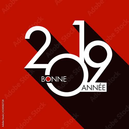 Fotografia  Carte de vœux 2019, pour entreprises et start-up, design et tendance, pour présenter les objectifs de nouvelle année