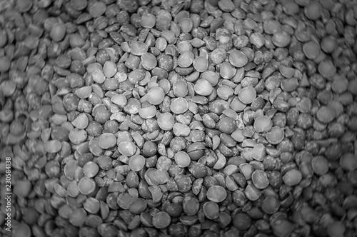 Foto op Plexiglas Stenen in het Zand Black and white peas Bokeh texture background