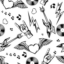 Rock And Roll Music Seamless P...