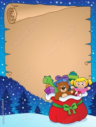 Christmas bag topic parchment 1