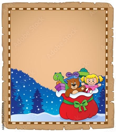 Christmas bag topic parchment 2