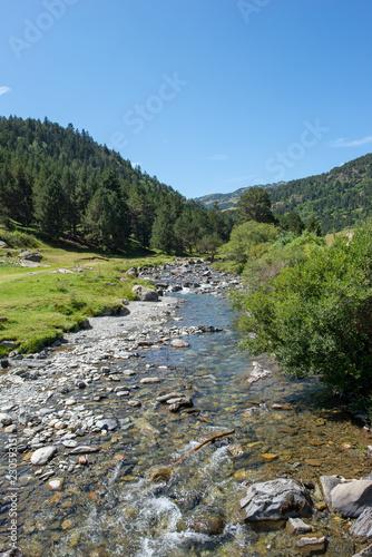 Road to Montgarri through the mountain of Aran Valley