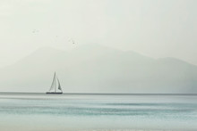 Sailboat Glides Lightly On The...