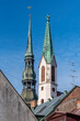Roofs of the old Churches in Riga in Latvia
