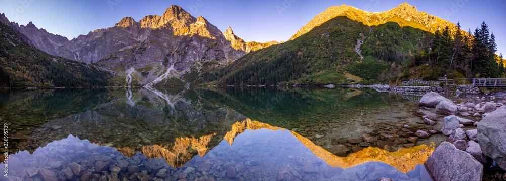 Fototapety, obrazy: Alpine lake in Tatras, Morskie Oko, Poland