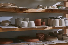Ceramic Bowls And Dishes On Wo...