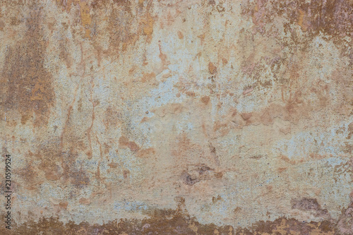 Foto auf AluDibond Alte schmutzig texturierte wand Vintage or grungy white background of natural cement or stone old texture as a retro pattern wall. It is a concept, conceptual or metaphor wall banner, grunge, material orange paint