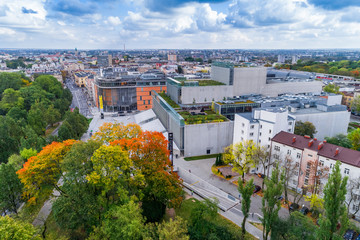 Panorama of Lublin aerial view