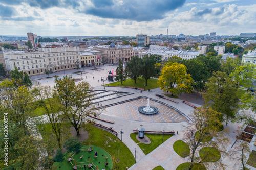 Obraz Panorama of Lublin aerial view - fototapety do salonu