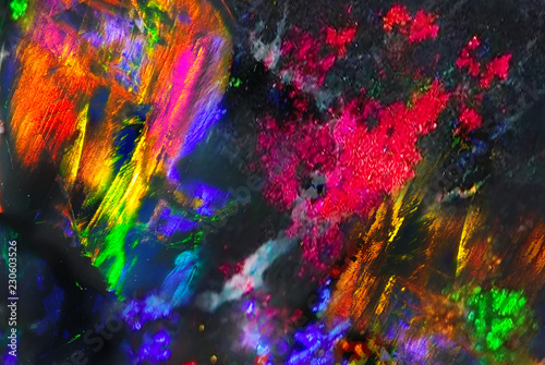 Abstract multicolor space background. Black opal background. - 230603526