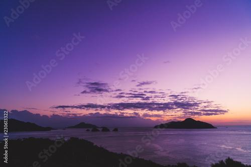 Foto op Aluminium Snoeien Sunset in Zamami Island