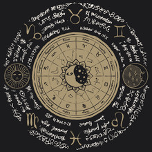 Vector Circle Of The Zodiac Wi...