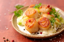 Fried Scallop With Sauce