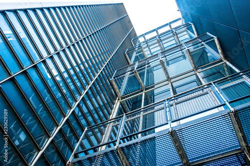 Foto op Canvas Stad gebouw office building