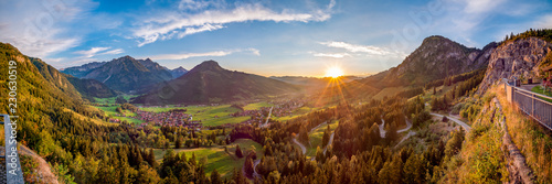 Abendstimmung in Bad Hindelang Canvas Print