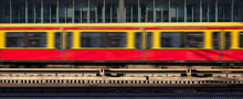 Blur Train In Motion, Office Building Background