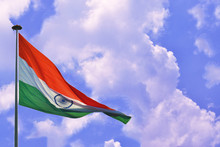 Indian Flag Tiranga Waving In ...