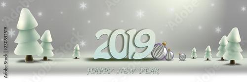 Fotografie, Obraz  bonne année 2019