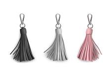 Fittings For Women's Handbag. Decorative Pendant Tassel. Black, White, Beige.