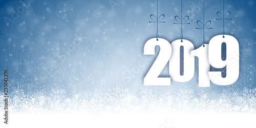 Fotografie, Obraz  snow fall background for christmas and New Year 2019