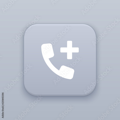 Photo Add contact button, best vector