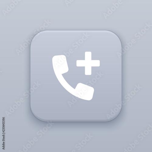 Add contact button, best vector Wallpaper Mural