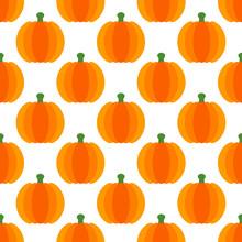 Retro Seamless Pattern Big Pumpkins