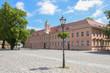 canvas print picture - Fontanestadt Neuruppin, Mark Brandenburg, old grammar school, Germany, Ramblings through Brandenburg