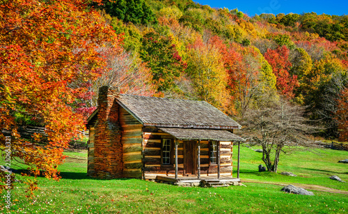 Canvas Print Grayson Highlands - Virginia State Park Historic Homestead Cabin