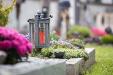 Candle / Lantern At The Cemete...