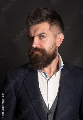 The best hipster beard style ever  Fashion model with long
