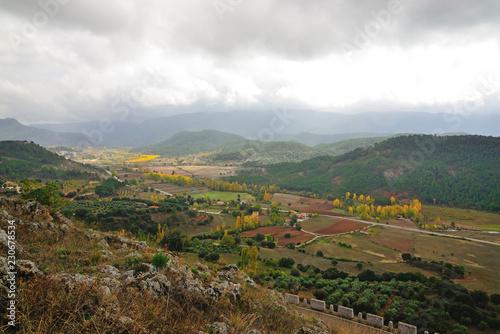 Foto op Plexiglas Wit Natural landscape near Riópar, Albacete, Spain.